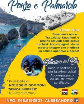Primavera/Estate 2019!! Tour di Ponza con Pranzo e Immersione di Prova o Brevettati!! Info nella Locandina!!